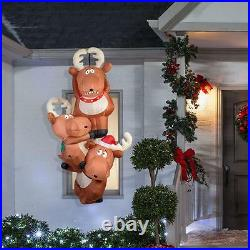 Gemmy Christmas 7.5 ft Reindeers Hanging from Roof Airblown Inflatable NIB