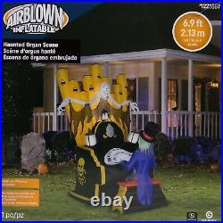 Gemmy Halloween 6.9 ft Haunted Zombie Reaper Organ Scene Airblown Inflatable
