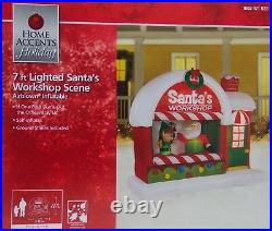 Gemmy Home Accents Christmas 7 ft Santa's Workshop Scene Airblown Inflatable NIB