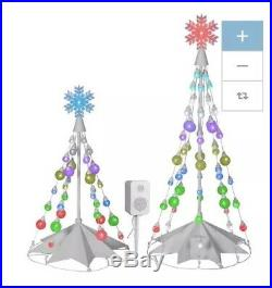 Gemmy Orchestra Of Lights 66 Duo Christmas Tree Speakers LED Color Changing
