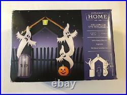 Ghost Arch Halloween LED Inflatable Yard Decor 8 Feet Tall