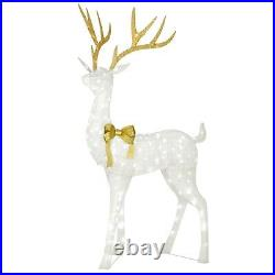 Giant Christmas Buck Outdoor Yard Pre Lit Decor Decoration Clear Blinking Lights