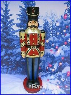 Giant Life-Size 4' Toy Soldier Nutcracker Large Christmas Holiday Display