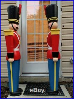 Giant Life-Size PAIR of 5' Toy Soldiers Nutcrackers Christmas Holiday Decor