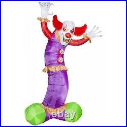 Giant Scary Clown Inflatable Halloween Decoration 10.5 ft Outdoor Yard