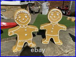 Gingerbread Family Blow Molds