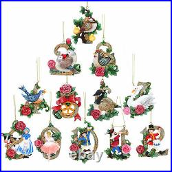 Gisela Graham 12 Days of Christmas Hanging Christmas Tree Decoration 9cm