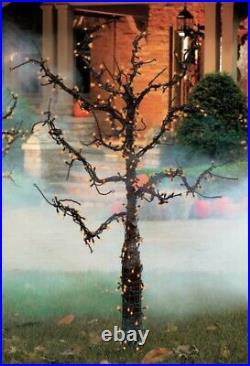 Grandinroad Halloween 5 Ft Tree Creepy Scary Pre Lit Orange Lights NIB