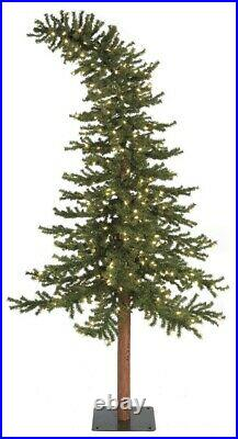 Grinch style 7ft LED Pre lit Bendable Alpine Whoville Christmas tree