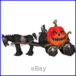 HALLOWEEN 14 FT FIRE & ICE GRIM REAPER CARRIAGE INFLATABLE AIRBLOWN gemmy