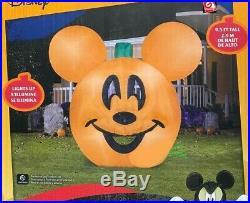 HALLOWEEN 9.5 FT MICKEY MOUSE PUMPKIN JACK O LANTERN HEAD Airblown Inflatable
