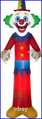 HALLOWEEN 9 Ft GIANT HAPPY CLOWN Airblown Inflatable YARD DECORATION