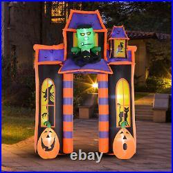 HOMCOM 10' Halloween Inflatable Archway Indoor Outdoor Decoration Haunted House