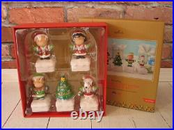 Hallmark 2015 Peanuts Gang Christmas Light Show Collector's Set New in Box