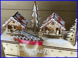 Hallmark Gerson International Lighted Village Advent Calendar Christmas 20.5