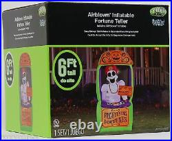 Halloween 6 ft Light Up Fortune Teller Booth Airblown Inflatable NIB