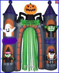 Halloween Inflatable Airblown Castle Archway Arch Ghost Pumpkin 9 Ft Gemmy