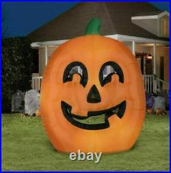 Halloween Inflatable Airblown Flat Pumpkin Jack O Lantern Huge 9.5 Ft Gemmy