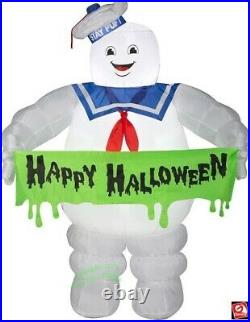 Halloween Inflatable Airblown Ghostbusters Stay Puft Banner 5 Ft Gemmy