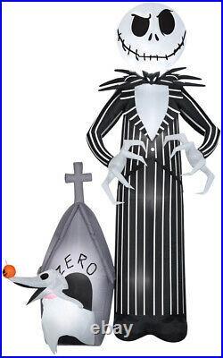 Halloween Jack Skellington Nightmare Before Christmas Inflatable Zero Dog 9.5 Ft