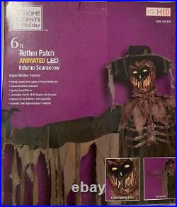 Halloween Rotten Patch 6 Foot Animated LED Inferno Scarecrow 2021 NEW IN HAND