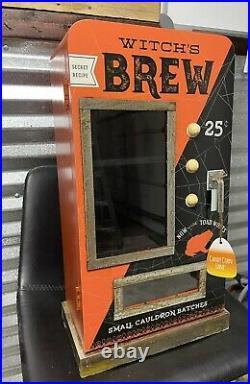 Halloween WITCHS BREW SMALL CAULDRON BATCHES Vending Machine MUG CABINET New