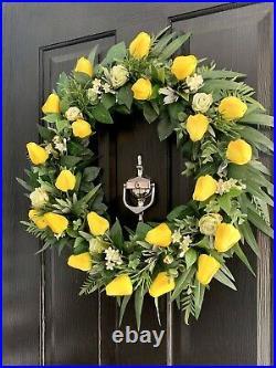 Handmade Spring Easter Wreath Tulips