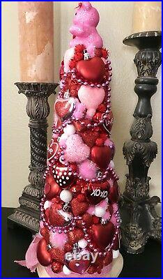 Handmade Unique 19 Valentines Day Tree Centerpiece Red / Pink Holiday Decor