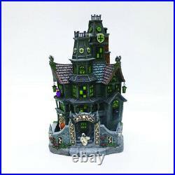 Haunted House Flickering Lighted Halloween Village Building 15