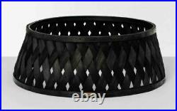 Hearth & Hand Magnolia Poplar Woven Wood Black Tree Collar Skirt SOLD OUT NEW