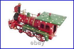 Holiday Christmas Ornament Steam Locomotive 1900s Metal Model 27.5 Train Decor