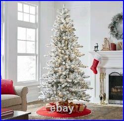 Holiday Time Pre-Lit Flocked Birmingham Fir Artificial Christmas Tree
