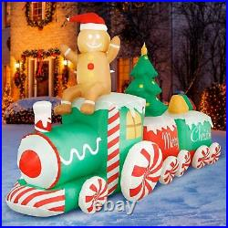 Holidayana 10 Ft Giant Inflatable Gingerbread Man Yard Decoration (For Parts)