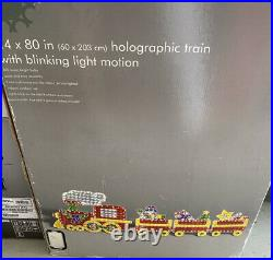 Holographic Train W Blinking Light Motion Indoor & Outdoor 24x80 Works