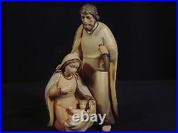 Holz Krippenfiguren, Set lasiert Artis Krippe. Hl. Familie 12 cm (3. Teilig)