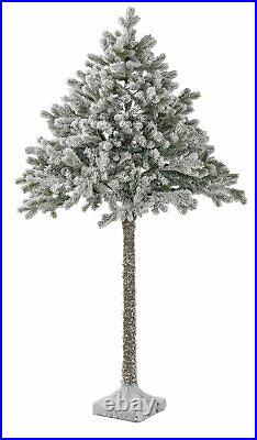 Home 6ft Snowy Half Christmas Tree Green