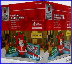 Home Accents 9 ft Animated Lighted Christmas Wheel Airblown Inflatable NIB