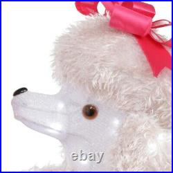 Home Accents Holiday 42 inch Christmas Cool White LED Poodle with Presents