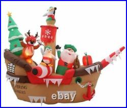 Home Accents Holiday 8 ft Giant Christmas Pirate Ship Airblown Inflatable NIB