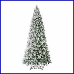Home Heritage 12 Ft Snowdrift Flocked Pine Prelit Christmas Tree (Used)