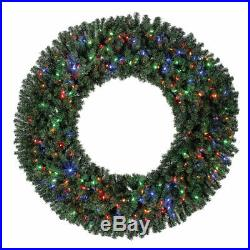 Home Heritage 60 Inch 1180 Tip Holiday Christmas Wreath with 300 Color LED Lights