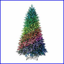 Home Heritage 7.5 Foot Quick Set Spruce Prelit Tree with Twinkly Lights(For Parts)