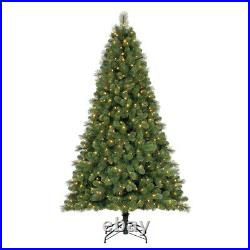 Home Heritage 7 Ft. Artificial Cascade Pine Christmas Tree with Changing Lights