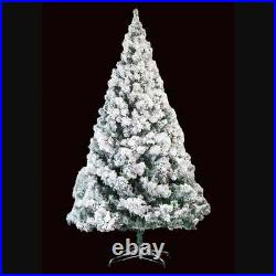Homegear 7.5ft Artificial Snow Dusted Christmas Tree Pre-Lit with Metal Stand
