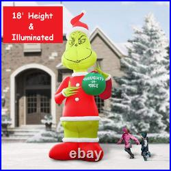 How The Grinch Stole Christmas 18' Inflatable Dr. Seuss XMAS Outdoor Decoration