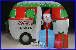 Huge 10' NEW Camper RV Christmas Lighted Airblown Inflatable Santa Airstream