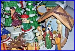 Huge 90+ pc Lot Dept 56/LEMAX/LEFTON/No-Brand Christmas Village Access/Figurines