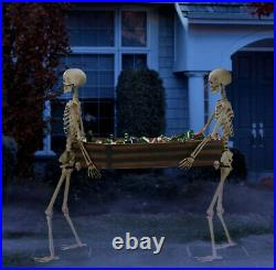 IN HAND Way to Celebrate Halloween Skeleton Duo Carrying Coffin 5