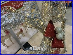 Indoor/Outdoor Christmas Reindeer Family Set Of 3 With LED Lights Decoration