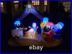 Inflatable Christmas Nativity Ft. Decoration -easy Setup In Seconds